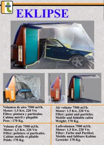 car painting mobile cabin